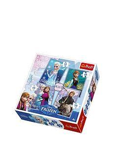 1600003717: Trefl 4-in-1 Puzzle - Frozen