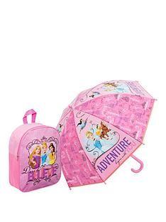 1600093516: Disney Princess Disney Princess Backpack and Umbrella Set
