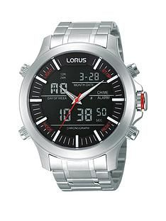 1600108707: Lorus Analogue/Digital Bracelet Mens Watch