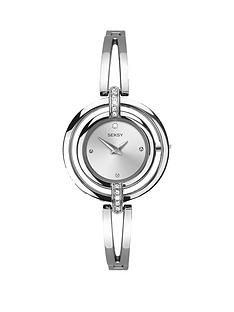 1600115597: Seksy Seksy Silver Tone Dial Bracelet Ladies Watch