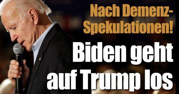Joe Biden: Nach den Demenz-Gerüchten! US-Präsident geht auf Donald Trump los