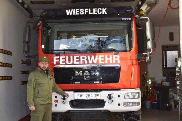 Einfach näher dran in Wiesfleck: Feuerwehrkommandant Kevin Dorfhuber gibt Einblick
