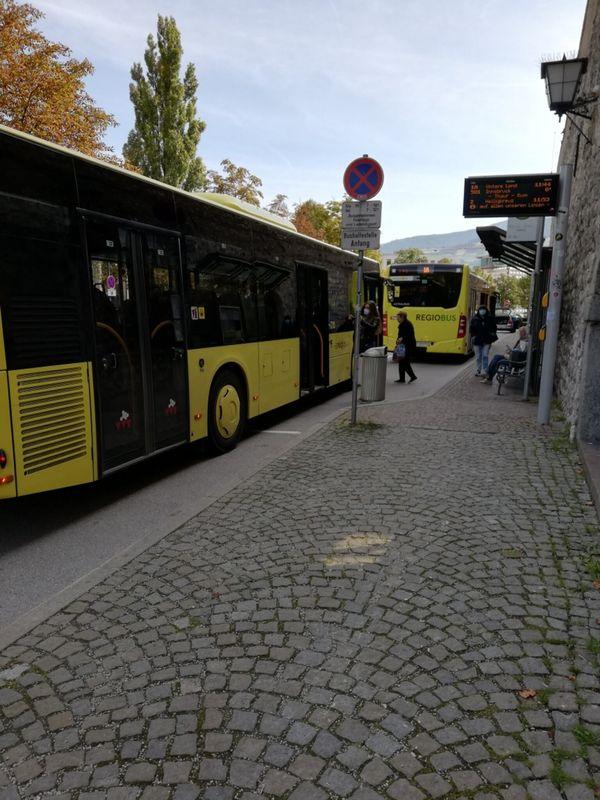 Mehr Platz für Linienbusse in der Stadt Hall