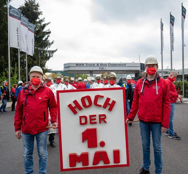 SPOÖ: Mai-Kundgebung vor dem MAN-Werk in Steyr