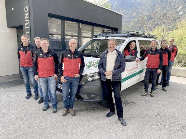 Schwaz: Neues Einsatzfahrzeug für die Bergrettung Schwaz