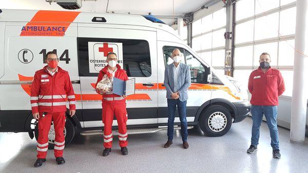 Rotes Kreuz Telfs: 25-jähriges Dienstjubiläum von Willi Schluifer