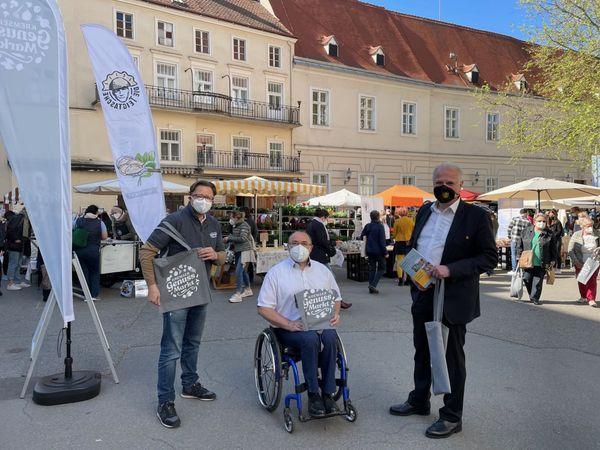 Stadt Krems: Der neue Kremser Genussmarkt begeistert die Besucher