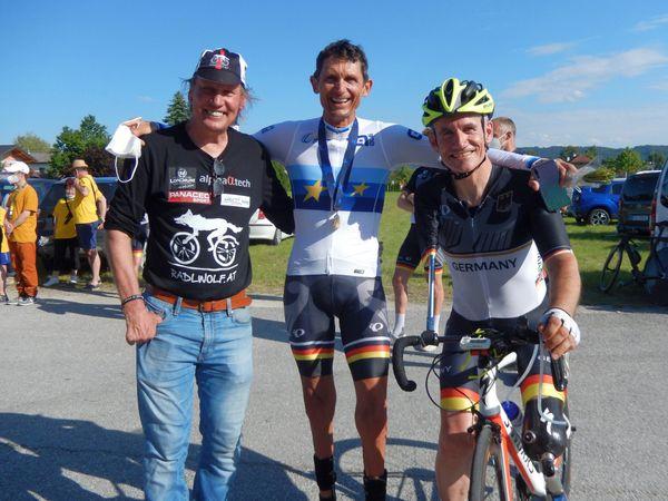 Gailtal: Vizestaatsmeistertitel für Pararadsportler Wolfgang Dabernig und Helmut Jost