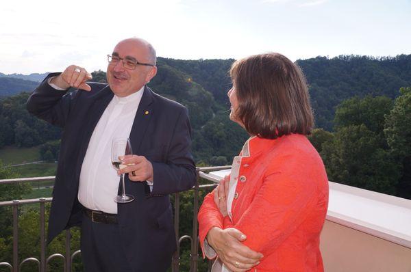 RANFILM-Produktion in Koproduktion mit ORF 3sat: Dreharbeiten mit Bischof Wilhelm Krautwaschl auf Schloss Seggau