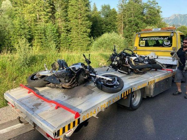 Unfall in Bad Ischl: Zwei Motorradfahrer auf Weißenbachtalstraße tödlich verunglückt