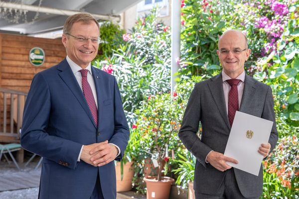 Daheim in Grünau: Bundesauszeichnung für Stefan Trautwein