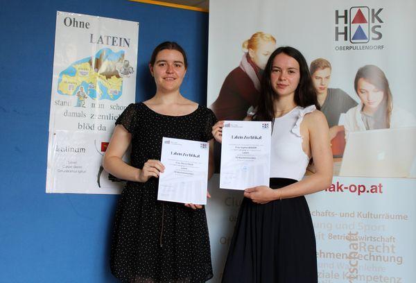 Seit 5 Jahren wird an der HAK erfolgreich Latein unterrichtet: Erste Absolventinnen mit Latein-Zertifikat an der HAK Oberpullendorf