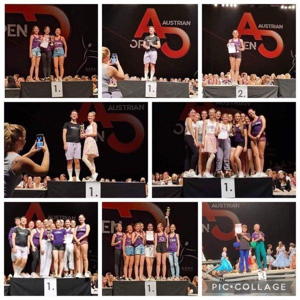 Österreichische Tanz-Meisterschaft in der Arena Nova: ortner4DANCE holt 6 Staatsmeistertitel
