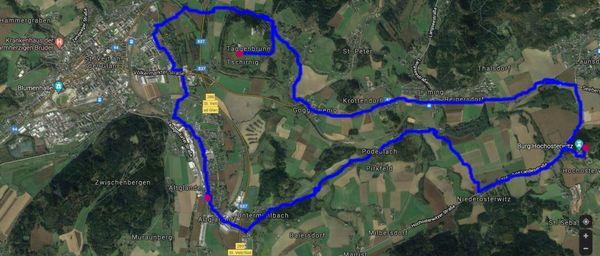Genussradtour von Glandorf zum Weingut Taggenbrunn und weiter zur Burg Hochosterwitz
