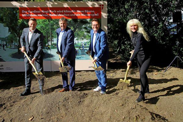 Nebelduschen, Begrünung & Spielplatz: Kardinal-Nagl-Park wird rundum erneuert