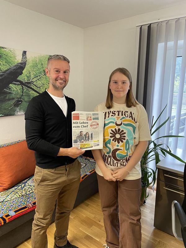 Anna Tödling: Praktikantin lernte die Redaktionsabläufe kennen