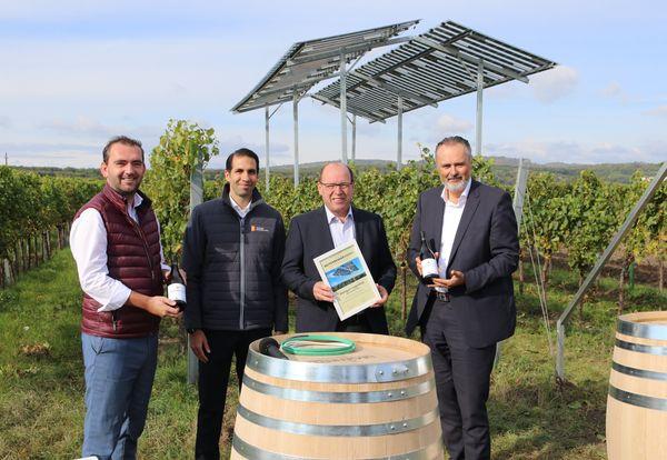 Pilotprojekt SonnenWein in Donnerskirchen gestartet: Photovoltaik zwischen den Weinreben