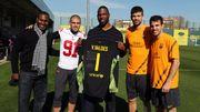 [訓練]球隊進行恢復性訓練 NFL明星造訪與域陀華迪斯換球衣