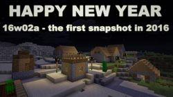 Snapshot 16w02a - pierwszy w 2016