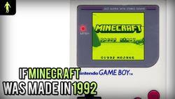 Gdyby minecraft został stworzony w 1992 roku - fanowska wizja gry