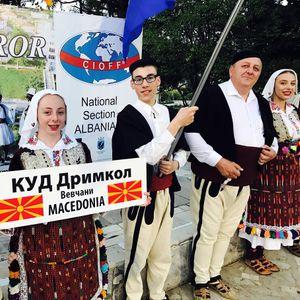 """КУД """"Дримкол"""" на ЦИОФФ Фестивал во Пермет, Албанија"""