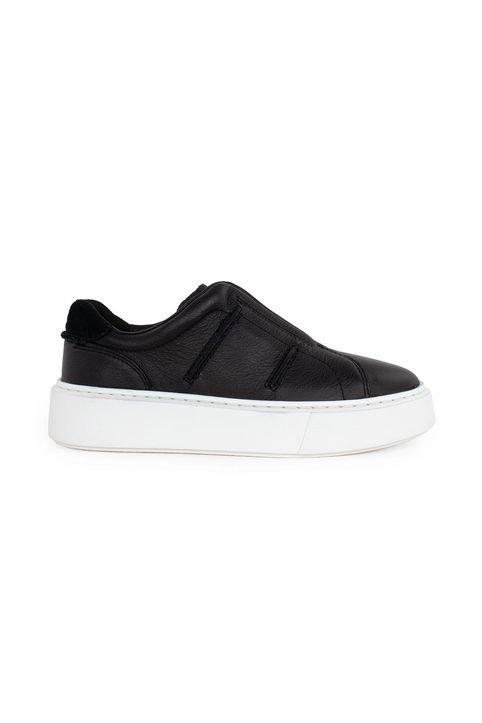 Clarks Γυναικείο Δερμάτινο Sneaker Hero Lite Slip 26161327-BLACK