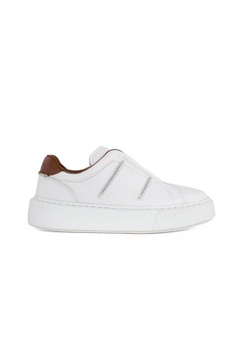 Clarks Γυναικείο Δερμάτινο Sneaker Hero Lite Slip 26161525-WHITE