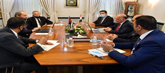 Foreign Minister Fouad Hussein meets his Jordanian counterpart in Baghdad 840112-b1f0c7e9-5869-4c88-a3b2-16b53f183e47