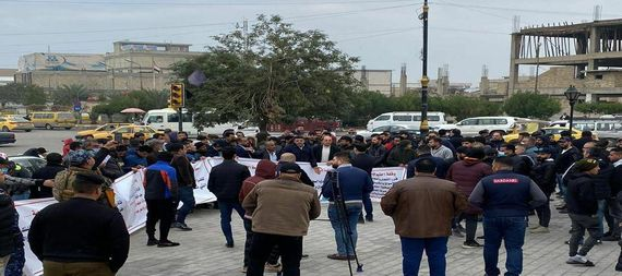 A protest demonstration for traders and kasbah in Sadr City to refuse to raise the price of the dollar 878126-e7cfc9f1-74ed-411d-9d96-3b77d39b02d6