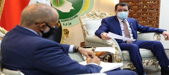The Minister of Agriculture discusses with the representative of the World Bank in Iraq the mechanism for implementing support for the agricultural sector 901853-54f44b07-b52f-47ab-affe-3094983ea042