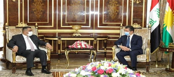 Masrour Barzani discusses with the Governor of the Central Bank of Iraq strengthening coordination and cooperation between the region and the federal government in the field of reorganizing the banking sector 911012-759ca61a-b378-4d70-aebb-ebfd642f8eda