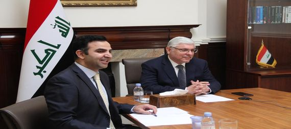 The Ambassador of Iraq in London discusses with the Secretary-General of the European Bank for Reconstruction and Development Iraq's accession to the Bank 916564-6c54d4fb-4178-41ab-bd9d-bb13751ec810