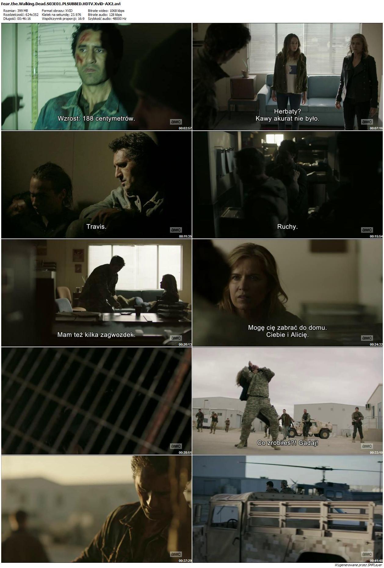 Fear the Walking Dead {Sezon 03} (2017) PLSUBBED.HDTV.XviD-AX2 / WTOPIONE NAPISY PL