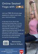 Online seated Yoga with Choice