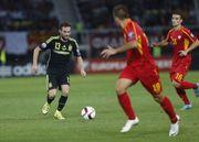 歐洲國家盃外圍賽精華 – 馬其頓 0-1 西班牙   馬達傳中擊中門將彈入奠勝...