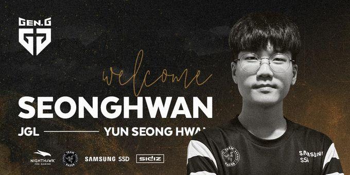 [英雄聯盟LPL]  Gen.G官宣簽下新打野SeongHwan  將與小花生競爭上場