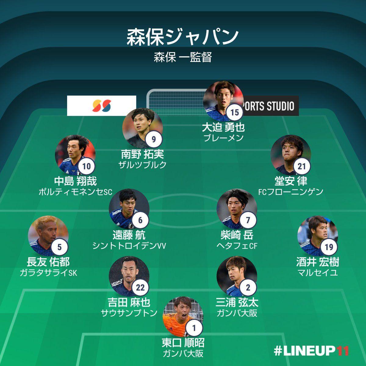 【速報】日本代表 vs ウルグアイ代表 スタメン発表の代表サムネイル