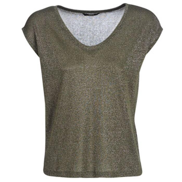 T-shirt με κοντά μανίκια Only ONLSILVERY Σύνθεση: Πολυεστέρας,Βισκόζη,μεταλλιζέ νήματα