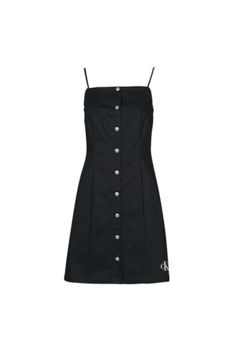 Κοντά Φορέματα Calvin Klein Jeans COTTON TWILL BUTTON DRESS Σύνθεση: Βαμβάκι,Spandex
