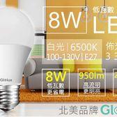 每入只要59元起,即可享有美國【Glolux】國家檢驗8W超高亮度LED燈泡〈4入/8入/16入/32入/50入/70入/90入/180入〉