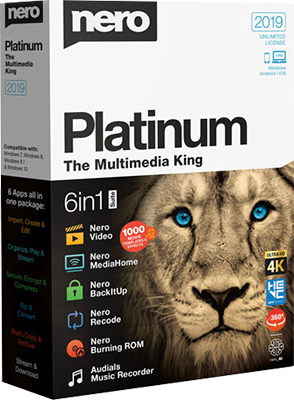 Nero Platinum Suite 2019 v20.0.05000 + Content Pack [Multi/PL]