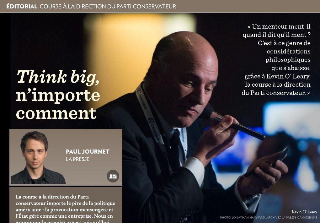 « Think big », n'importe comment - La Presse+