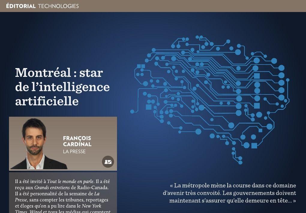 Montréal : star de l'intelligence artificielle - La Presse+