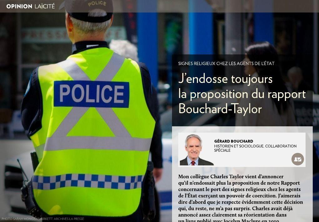J'endosse toujours Bouchard-Taylor - La Presse+