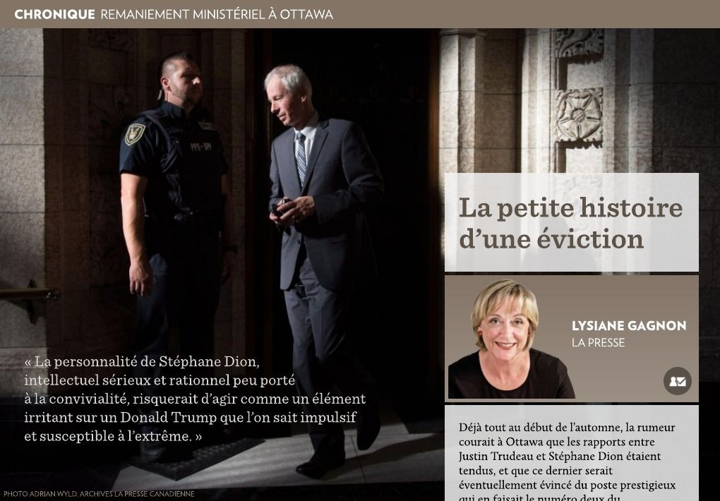 La petite histoire d'une éviction - La Presse+