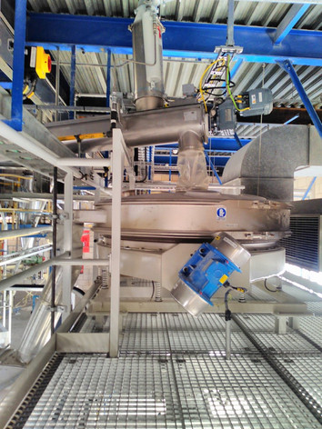 Trilzeefmachine PP poeders - Bulk Solids Industrie - Poeth Solids Processing - Tegelen
