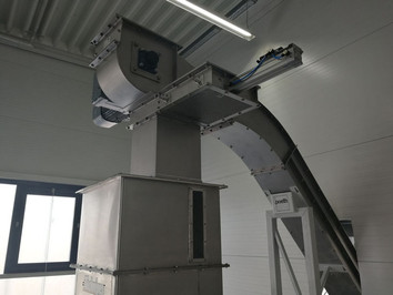 Z-conveyor roestvrij staal - Bulk Solids Industrie - Poeth Solids Processing - Tegelen