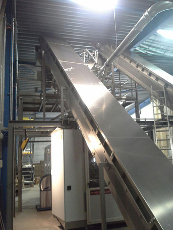 Z-beltconveyor, Inclined belt conveyor - Food Industry - Poeth Solids Processing - Tegelen
