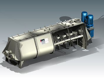 Continious Mixer - Bulk Solids Industry - Poeth Solids Processing - Tegelen