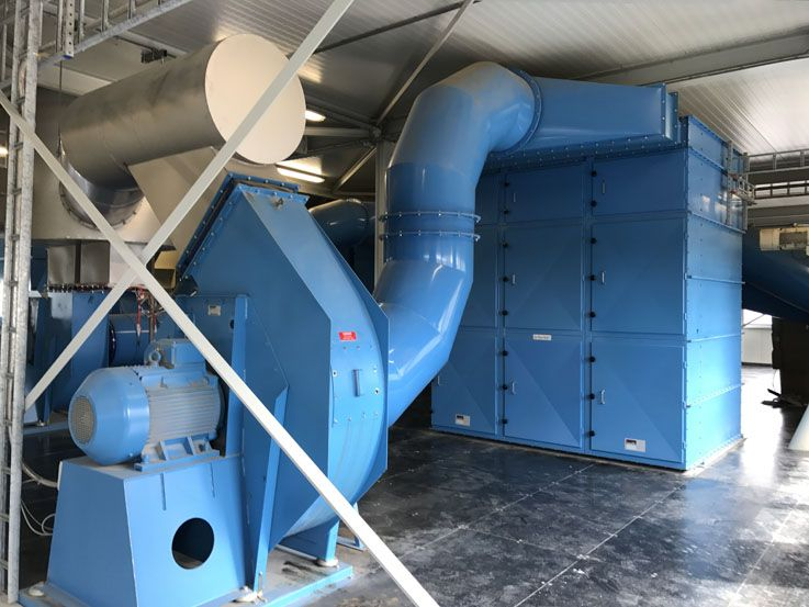 Dustfilters - Cased-unit Filter - Poeth Solids Processing - Tegelen